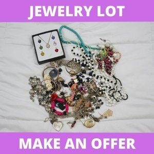 HUGE Assorted Jewelry Lot - Crafters & Resellers